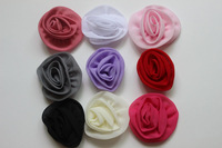 20Pcs/lot Top Quality Chiffon Flowers Diy Baby Headbands Rosette Flower Girls Hair Flower Accessories Wholesale
