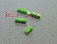 pow button Side volume key Mute button for iPhone 5C color full 3pcs/set for iphone 5C side button set green