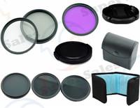 52 MM UV CPL FLD + ND2 4 8 Filter Kit set Flower Petal Camera Lens cap  for Nikon D3100 D3200 D5100 SLR Camera 18-55mm