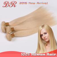 "Grade 6A 613 blonde virgin hair peruvian silky straight hair weft 3/4/5pcs/lot 14""-26"" inch human hair extension 100g/pc"