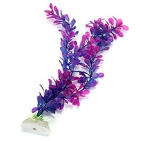 Purple Blue Artificial Water Plants for Fish Tank Aquarium Decoration Ornament