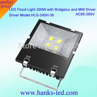 200W LED flood light  3 years warranty Bridgelux LED,Meanwell external driver,IP65 waterproof,85-277V,DHL fedex  free shipping