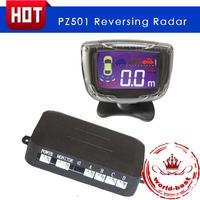 Car LCD Parking Sensor Display 4 Sensors 22mm 12V Reverse Assistance Backup Radar System Free Shipping