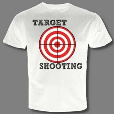 New TARGET SHOOTING Sport Rifle scopes pistol gun handgun archery firearm T-SHIRT 2014 Custom mens tees school design t shirts(China (Mainland))