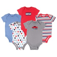 5 pcs / lot Luvable Friends Car Themed Baby Clothing 5 Pack Baby Bodysuits,Baby Boy Bodysuit Summer 0-3,3-6,6-9,9-12 months