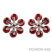 2014 New design Swiss Zircon Stud Earrings exaggerated Austrian Crystal top Quality Stud earrings for women (FE-169)
