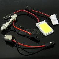 2PCS/LOT COB Chip 18 SMD Car LED Interior Panel Dome Reading Light T10 Festoon BA9S