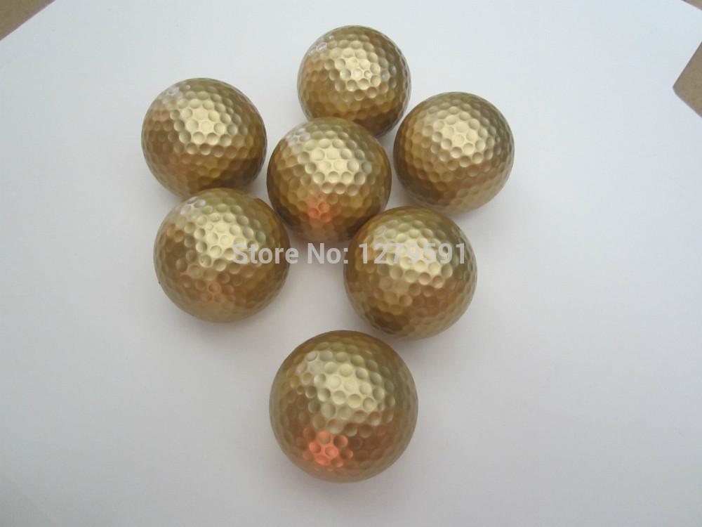 promotion golf ball, golden color golf ball golf gift ball(China (Mainland))