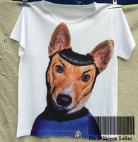 Track Ship + New Summer Fresh T-shirt Tee T Top Tee Star Uniform Dog