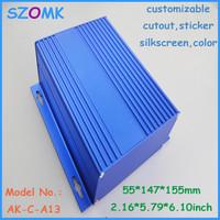 4 pcs/lot  55x147x155 MM instrument enclosures case project aluminium environmental enclosures aluminum project box  enclosure
