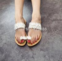 2014 Hot Sell Bohemian Sandal Woman Flip Flops,Ladies' Sandals purple White Rhinestone Beach Women Slippers LT015