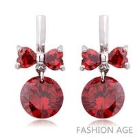2014 Brand New Fashion design Swiss Zircon Dangle Earrings exaggerated Austrian Crystal  Drop earrings for women (FE-111)