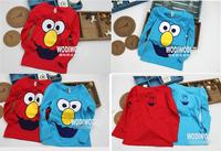 2014 summer new Children cotton longsleeve baby girl boy t shirt lovely top kid Sesame Street tee cartoon clothing 5pc/lot