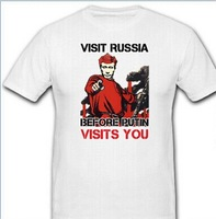 VISIT RUSSIA BEFORE PUTIN VISITS YOU-Wladimir Wladimirowitsch - T Shirt custom mens/womens/Boys  tees as your design text