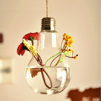 2014 New hot Creative bulb Hanging vase Europe Hydroponic Transparent glass vases home fashion jewelry ornaments decoration