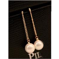 Hot Top Quality Retro Wearing Tassel Pearl Earrings Women's Stud Earrings R-122