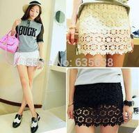 2014 Summer Women Korean Sweet Crochet Tiered Lace Short Skorts Short Pant Skirt