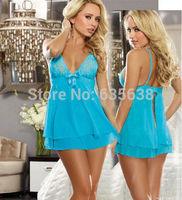 Hot Women's Sexy Lingerie Lace Dress Underwear Black Babydoll Sleepwear