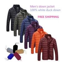 2014 new fashion winter men's down jacket warm coat S-XXXL100% white duck down free shipping14121
