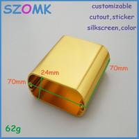 10  pcs/lot enclosures aluminum box rack enclosure aluminium enclosure electronics outlet enclosures 24X70X70MM