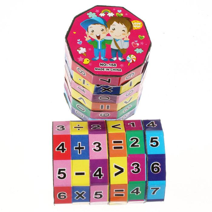 2PC Baby Children's Number Multi Activity Cube Math Educational Toy Freeshipping Kimisohand(China (Mainland))