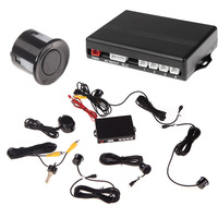 Video Car Parking Sensors Reverse Backup Radar System Kit Parking Assistance 4 Sensors 12V Work with Car DVD Monitor