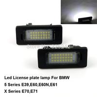 Excellent Quality 3528 Epistar Led License plate light for BMW 5 Series E39,E60,E60N,E61,X Series E70,E71,No OBC error