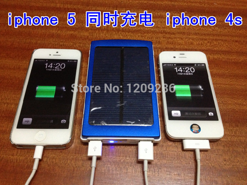 Wholesale 100pcs/lot New Solar Power Bank 10000mah Portable Solar Battery pack for mobile phone with 4connectors+retail box Free(China (Mainland))