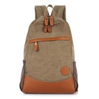 Fashion Canvas + Pu Women Backpacks Patchwork Zipper Letter Travel Backpacks Wenger Bolsas Vintage School Bag B179