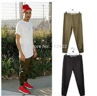2014 new brand pants man  cotton beam jogger  Pure pants hip hop sports reentrant  chino trousers men quick dry fitness khaki