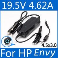 Laptop Car Charger 19.5V 4.62A 90w notebook power adapter for hp pavilion envy M4 1010TX 1008TX 1009TX 14-e024tx TPN-Q117 Q118