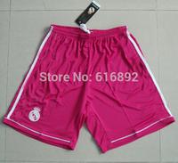Real Madrid pink shorts 14 15 season Real Madrid 2015 away pants custom number thailand quality