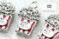H468c MONNEL Best Selling Wholesale 3 pcs New Design Alloy Popcorn Charm Pendant