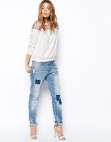 2014 new fashion  Europe women elegant flower printed Hoodies casual stylish loose brand design backless tops#J097