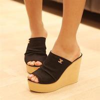 big size EUR 41 42 43 summer woman sandal for women's wedges platform sandals high-heels shoes Fashion ultra heels slippers