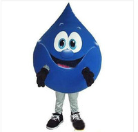 2014 Top selling Blue Drop Cartoon Mascot Costume Halloween Fursuit Fancy Dress Mascot Costume