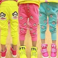 (CZ0755)Retail Hot Sell 2014 New Prints Leggings Children Boy and Girl Lovely Summer Cartoon Monkey Pants  Child Clothing