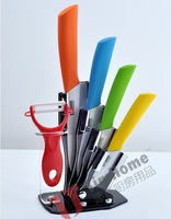 Ceramic knife set  6 pcs   with  ceramic knives 3 inch+4 inch+5 inch+6 inch+peeler +Knife holder