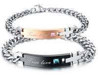 His and Hers Matching Set of Bracelet Couple Jewelry Valentine/Anniversary Gift One Pair