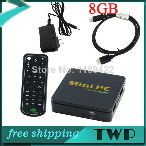 CS828 Android 4.0 Mini PC Google TV Player w/ 1GB RAM / 4GB ROM / HDMI / H.264 - Black(China (Mainland))