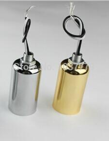 10pcs/lot E14 ceramic aluminum pendant lamp fitting holder(China (Mainland))