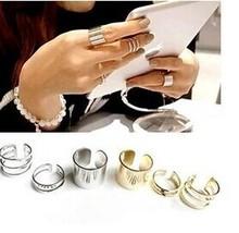 Anillo de dedo redondo Nueva aleación de joyería de moda fijó 1set = 3pcs regalo para la muchacha de las mujeres de las señoras R1158(China (Mainland))