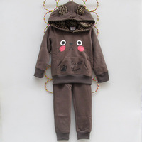 free shipping baby & kids girls clothing sets children hoodies conjunto de roupa