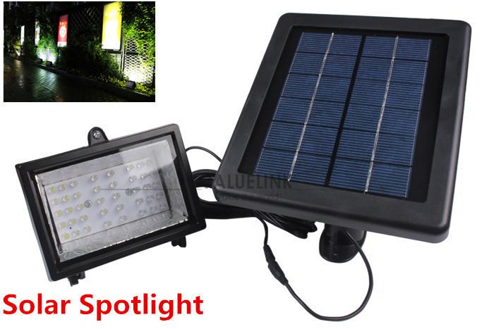 Garden Light Outdoor 40 LED Solar Light Solar-Powered Spotlight Lamp Panel Garden Pool Pond Lawn(China (Mainland))