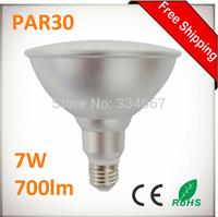 PAR30 7W 700lm LED Spots Bulbs Light E27 110V / 220V 7W PAR30 LED Spot Light Bulb Lamp