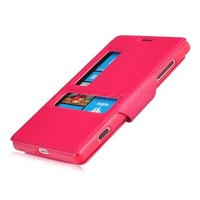 New High-class View Window Leather Flip Cover Folio Case For Nokia Lumia 720