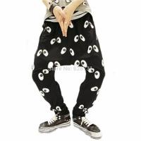 Womens Baggy Eyes Printing Hip Hop Haroun Harem Pants Trousers