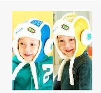 free shipping 3M-4 years old baby Korean children cashmere thickened winter cap warm robot helmet Children's warm cap