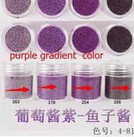 Boxed 10ml 20pcs/lot Brand New style 2014 summer Mini Caviar Nail Art Polish Beads Nail art Decoration purple gradient series