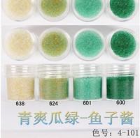 Boxed 10ml 20pcs/lot Brand New 2014 summer Mini Caviar Nail Art Polish Beads Manicures 3D Nail Art dark green series